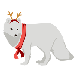Zorro ártico zorro polar navidad plana