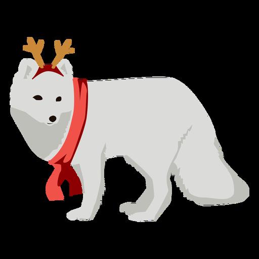 Zorro ártico zorro polar navidad plano