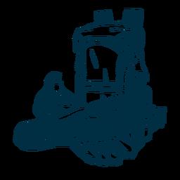 Ilustração de sapatilha de chinelo de mochila