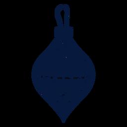 Silhueta detalhada de cone de bola