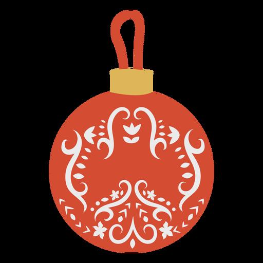 Ball flat christmas Transparent PNG