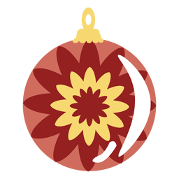 Anillo de flor de bola plano
