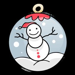 Anillo de bola muñeco de nieve plano