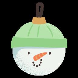 Bola de muñeco de nieve plana