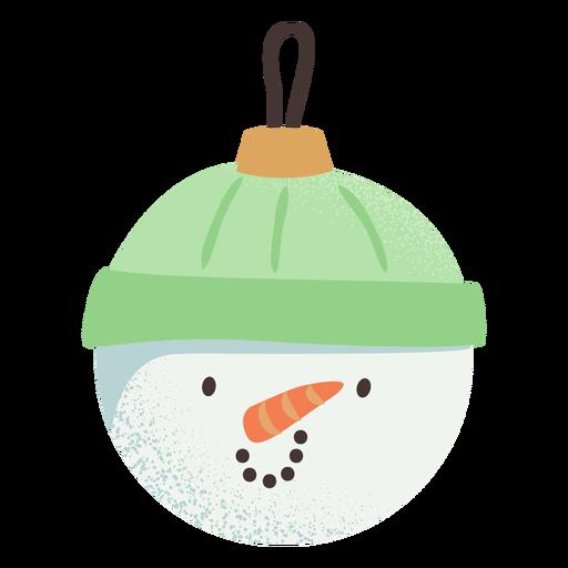 Bola de muñeco de nieve plana Transparent PNG