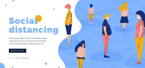 Social distancing slider template