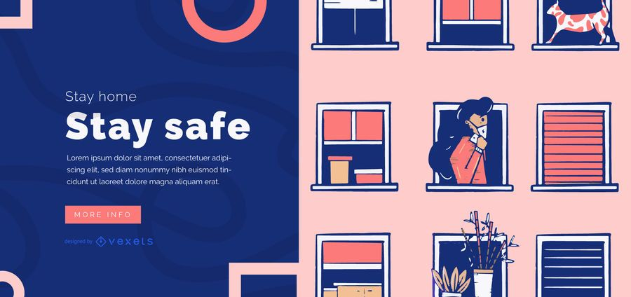 Stay home slider template