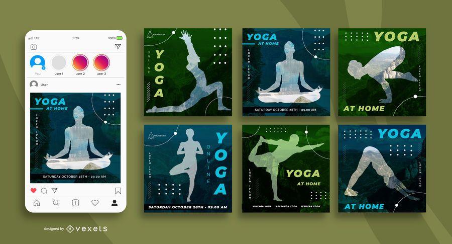 Yoga Social Media Square Banner Pack