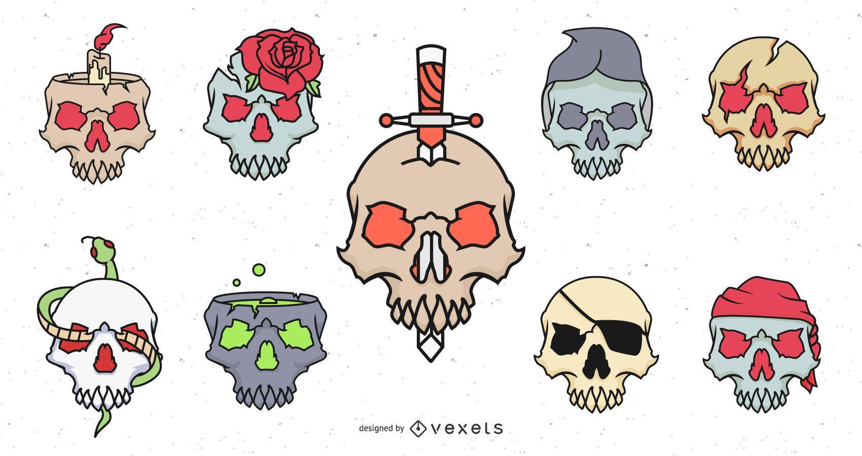 Cool Skull Design Set