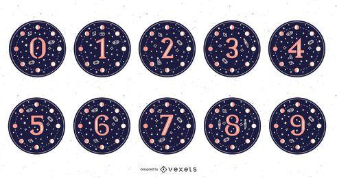 Conjunto de números mágicos de la luna