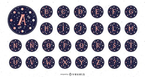 Pacote Alphabet Moon Magic Design