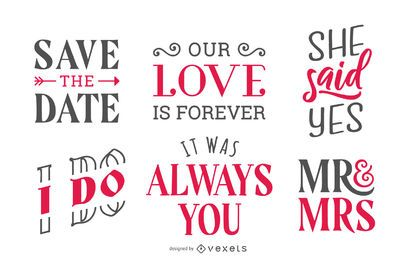 Wedding lettering set