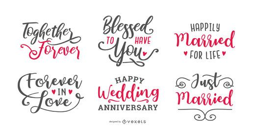 Marriage lettering set