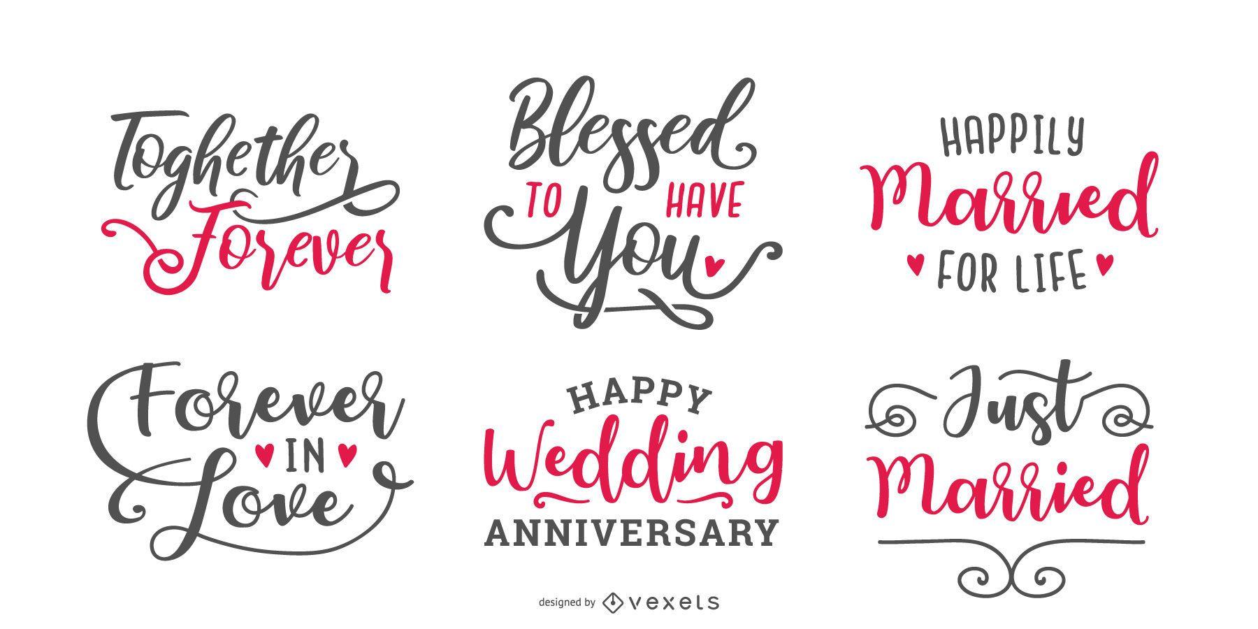 Conjunto de letras de matrimonio