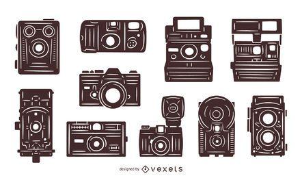 Pacote de câmeras vintage