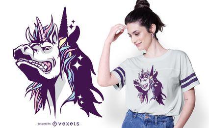 Diseño de camiseta Unicorn Shadow