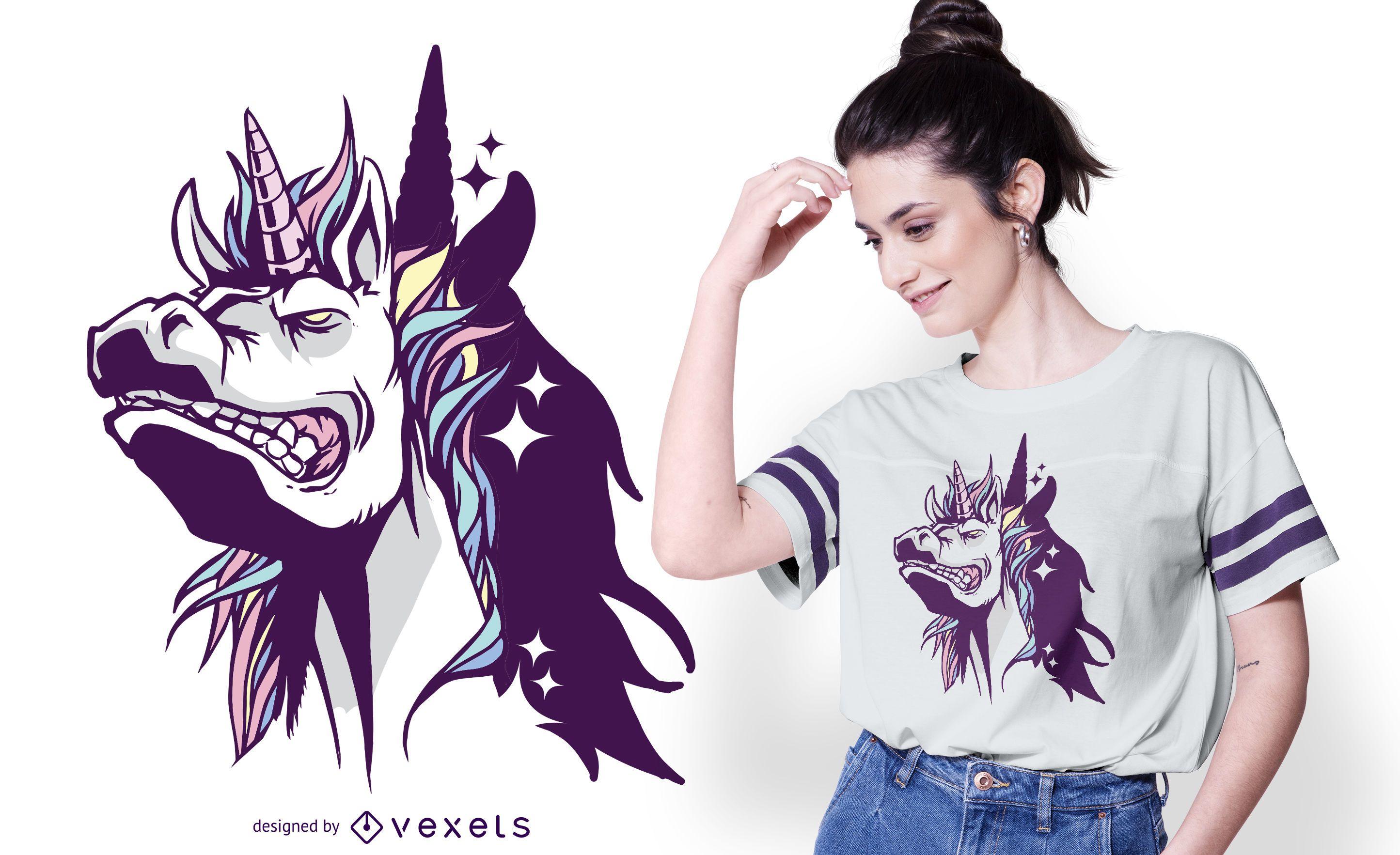 Unicorn Shadow T-shirt Design