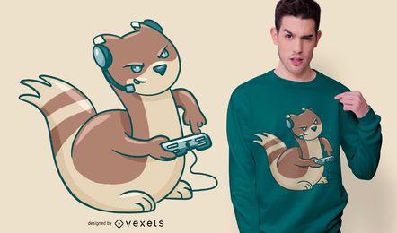 Diseño de camiseta Gamer Ferret