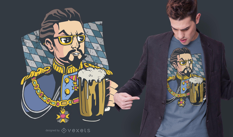 Diseño de camiseta Bayern Beer Man