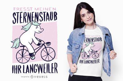 Design de camiseta com citações de bicicleta do unicórnio