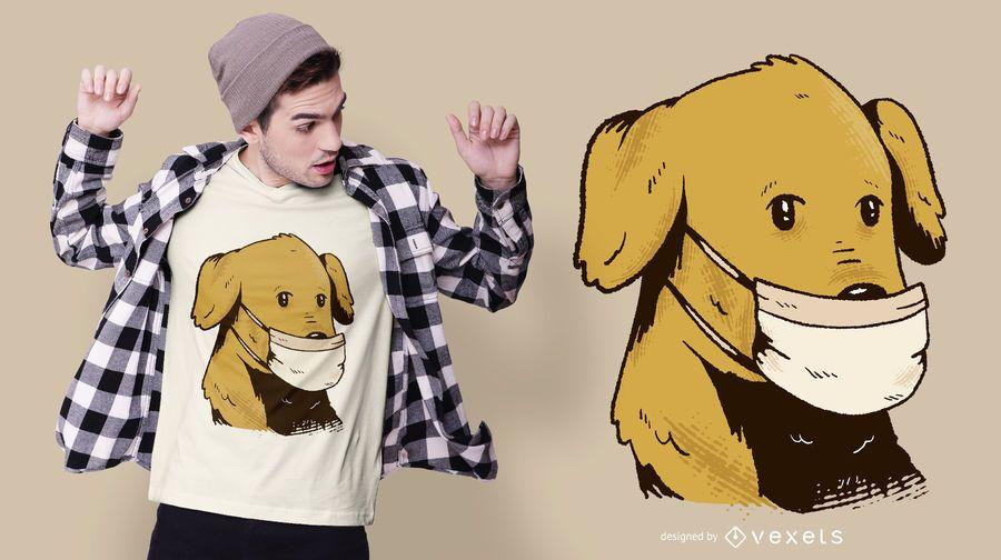 Diseño de camiseta de perro con mascarilla