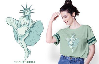 Design do t-shirt da liberdade Monroe