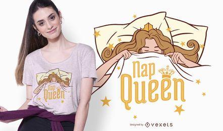 Diseño de camiseta Nap Queen