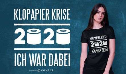 Diseño de camiseta de cita alemana de papel higiénico