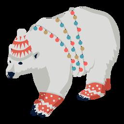 Bear grizzly flat xmas
