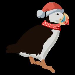 Vogel flach Weihnachten