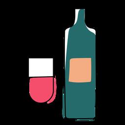 Flasche Glas flach Weihnachten
