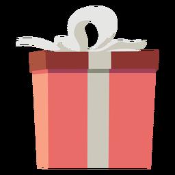Caixa de presente de arco plana