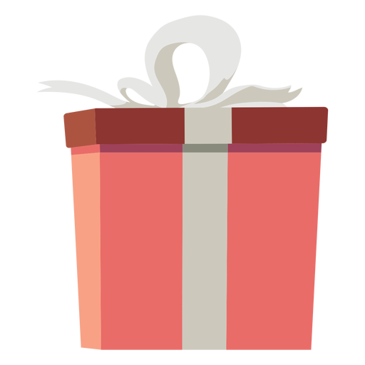Bow gift box flat Transparent PNG