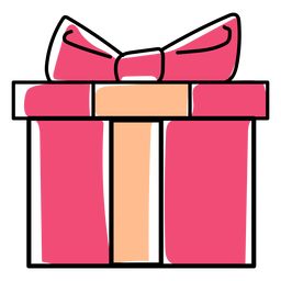 Arco regalo caja plana navidad