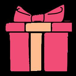 Caixa de presente arco plana natal