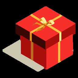 Caja de regalo de arco isométrica