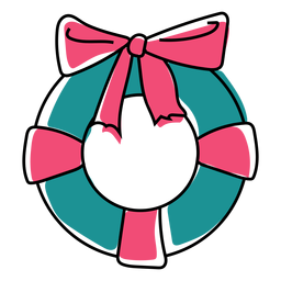 Bow wreath flat