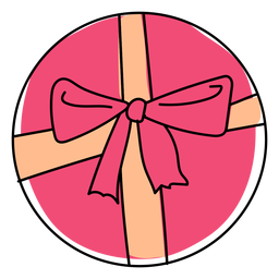 Box bow gift flat christmas