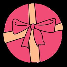Caja arco regalo plano navidad