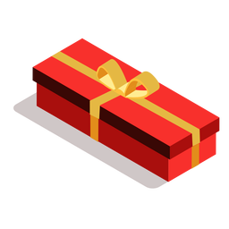 Box bow gift isometric