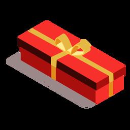 Caja arco regalo isométrico