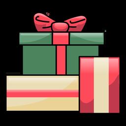 Caja regalo arco plano navidad