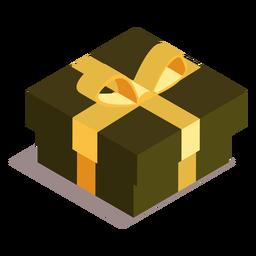 Caja regalo arco isométrica