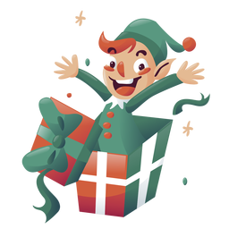 Boy elf christmas character
