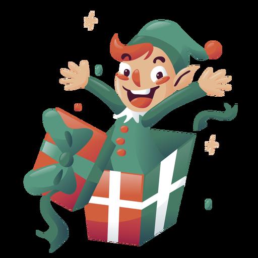 Boy elf christmas character