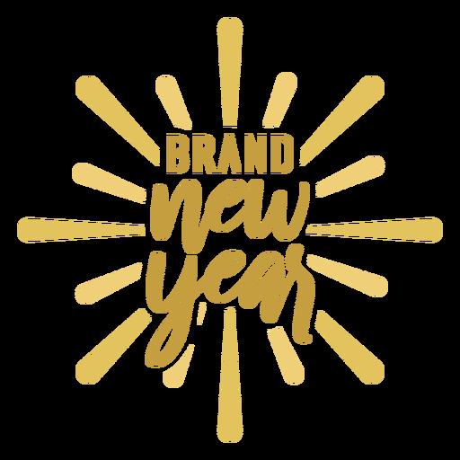 Etiqueta engomada de la insignia de la insignia de año nuevo