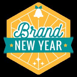 Brand new year badge bell badge sticker