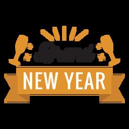 Nuevo año insignia de la cinta adhesivo de vidrio insignia