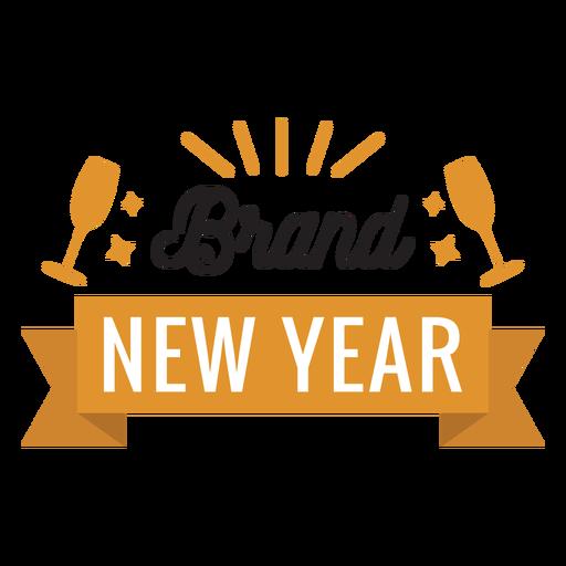 Etiqueta engomada de la insignia de cristal de la cinta de la insignia del año nuevo