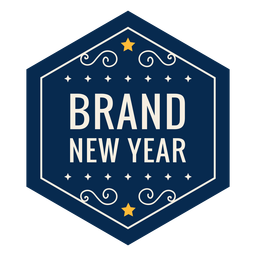 Brand new year badge star badge sticker